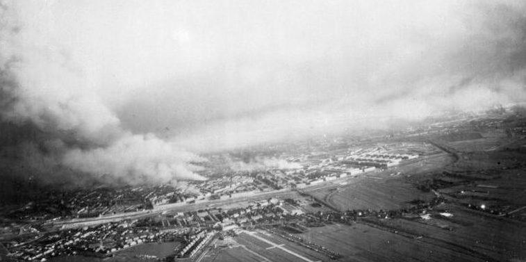 Последствия немецкого авианалета на Роттердам 14 мая 1940 г.