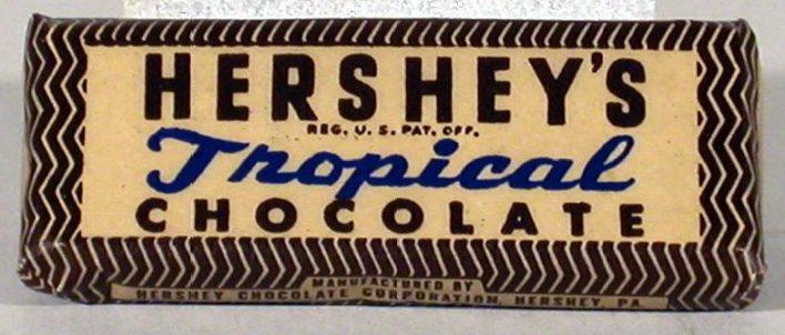 Тропическая упаковка «военного шоколада».