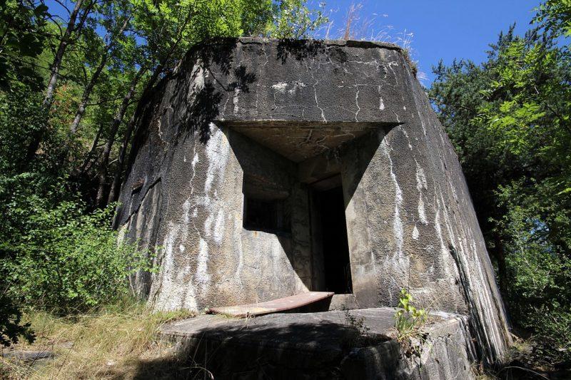Артиллерийская амбразура форта.