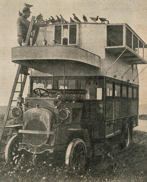 Голубиный автомобиль французской армии. 1916 г.