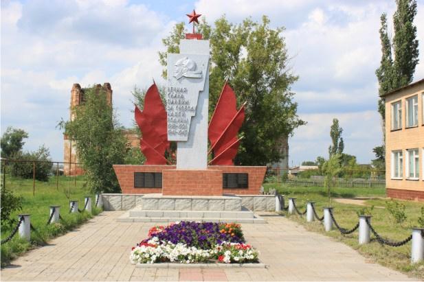 х. Петровский Урюпинского р-на. Обелиск погибшим землякам.