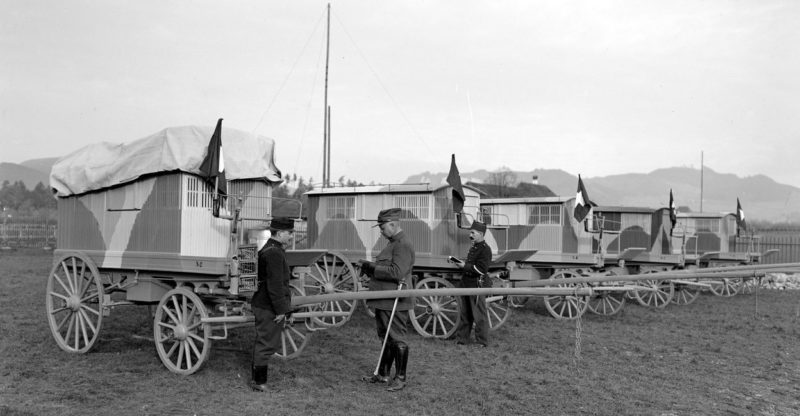 Швейцарская база голубиной связи. 1917 г.