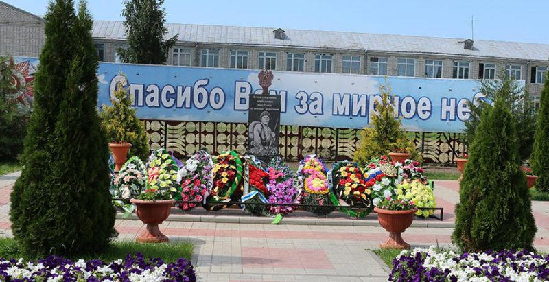 х. Яминский Алексеевского р-на. Памятник советским воинам, погибшим в годы войны.