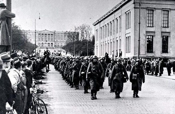 Немецкие солдаты в Осло.
