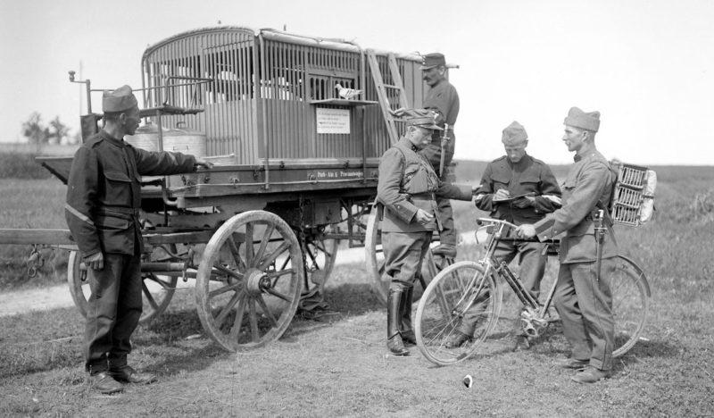 Швейцарская мобильная станция. 1917 г.