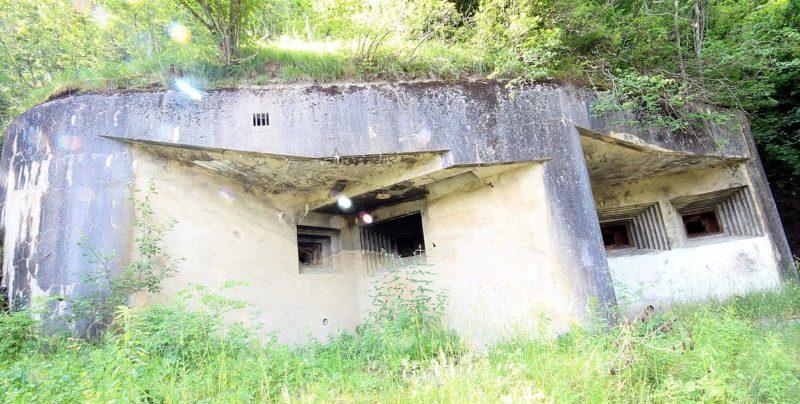 Амбразуры форта.
