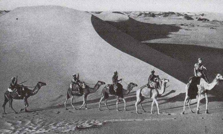 Итальянский патруль на верблюдах. 1940 г.