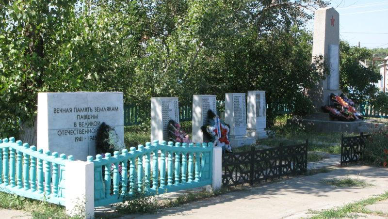 с. Маляевка Ленинского р-на. Братская могила советских воинов по улице Кузнечной.