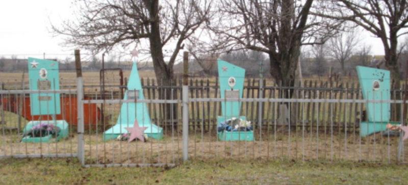 х. Демидов. Быковского р-на. Могила советских воинов, погибших во время Сталинградской битвы.