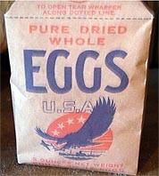 142-граммовый (5-унций) пакет яичного порошка.
