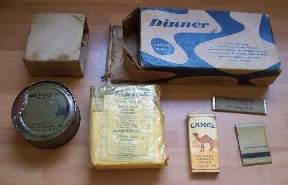 Наборы продуктов на обед из K-рациона.