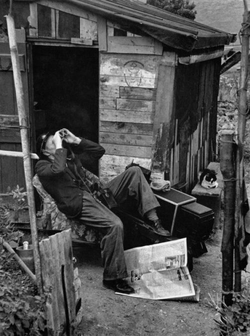 Наблюдатель гражданской обороны на скале Шекспира в районе Дувра. 1940 г.