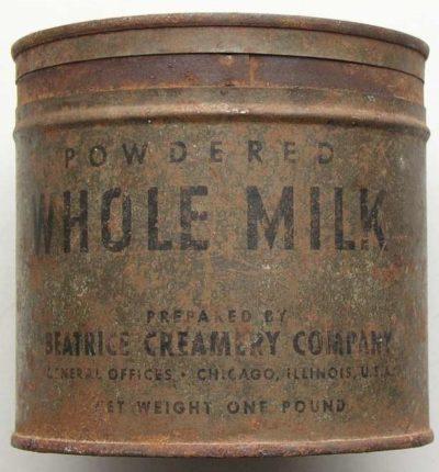 Упаковка для сухого молока (порошкообразного).