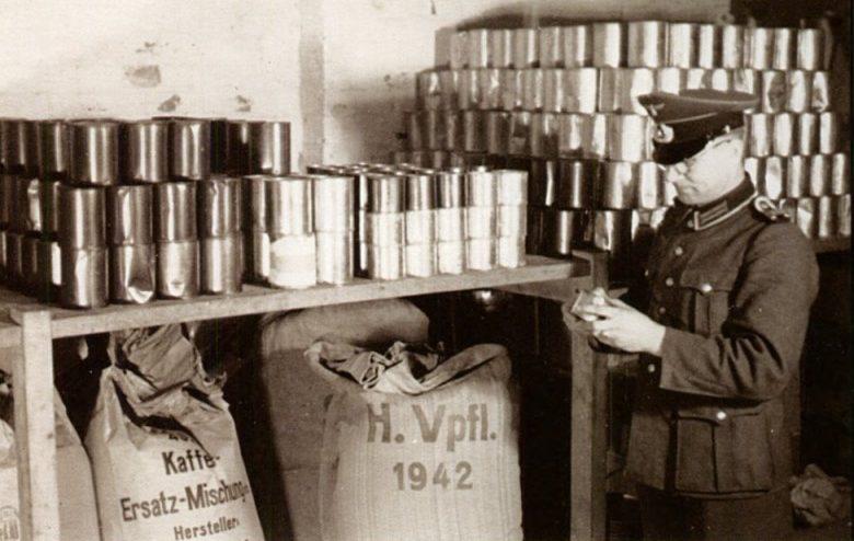 Немецкий продовольственный склад.