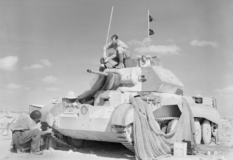 Проверка британского танка A13 Cruiser Mk IVA . 1940 г.