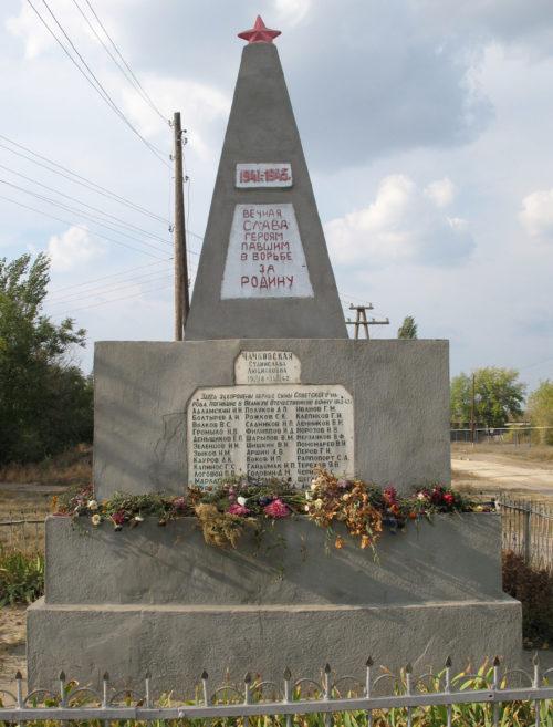 х. Верхние Липки Фроловского р-на. Братская могила советских воинов.