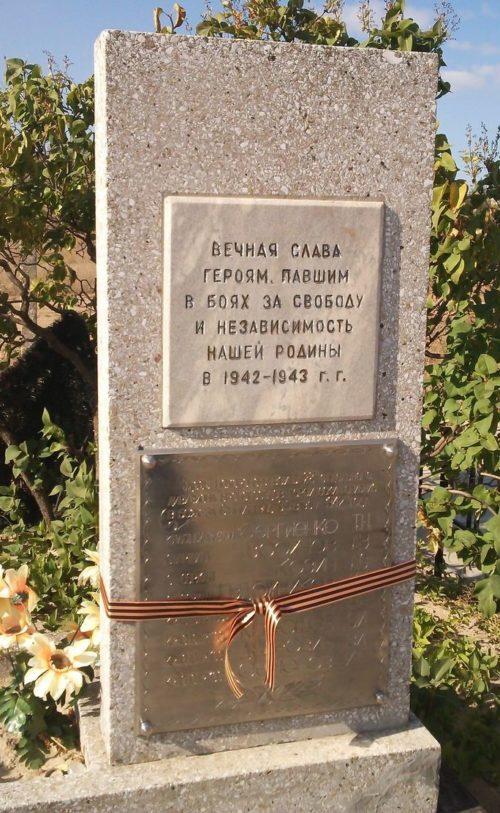 Станция Чапурники Светлоярского р-на. Братская могила советских воинов.