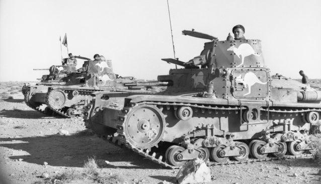Захваченные итальянские танки на службе австралийского кавалерийского полка 6-й дивизии. 1941 г.