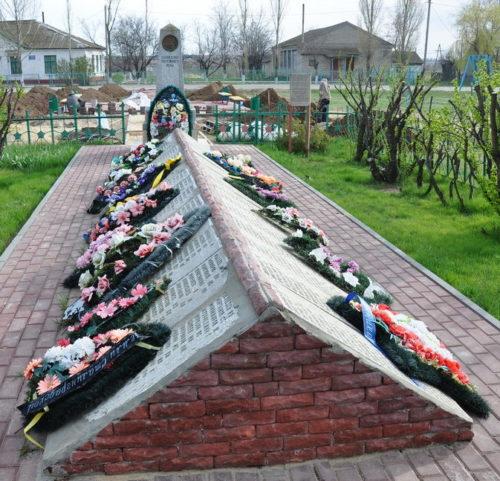 с. Мариновка Калачевского р-на. Братская могила красных партизан и советских воинов, погибших во время Сталинградской битвы.