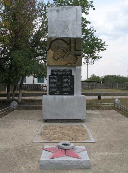 х. Красные Липки Фроловского р-на. Братская могила советских воинов.