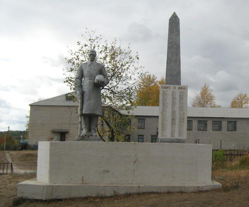 ст-ца. Луковская Нехаевского р-на. Памятник, погибшим в годы войны.