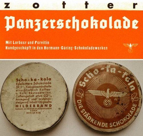 Шоколад для танкистов – «Panzerschokolade» и «Scho-ka-kola».