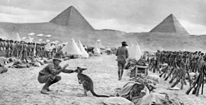 Лагерь австралийских войск. 1941 г.
