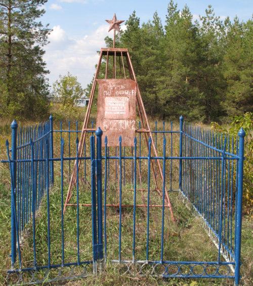 п. Серебряные Пруды Фроловского р-на. Могила Тимофеева С. Т., погибшего во время Сталинградской битвы.