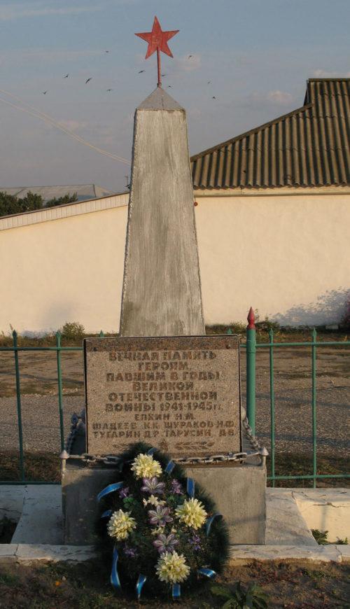 х. Шуруповский Фроловского р-на. Братская могила советских воинов.