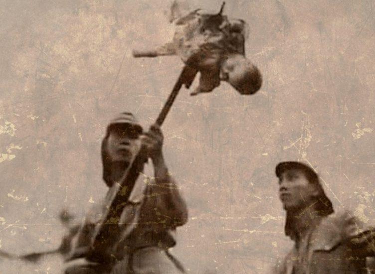 Убитые маленькие дети. Японские солдаты подбрасывали их в воздух и расстреливали для развлечения, а потом сваливали в одну кучу. Китай, Нанкин, декабрь 1937 г.