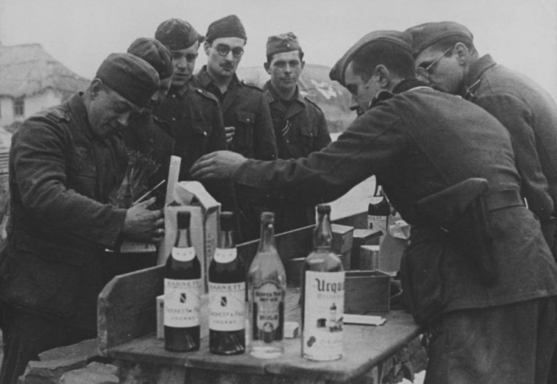 Алкоголь на фронте.