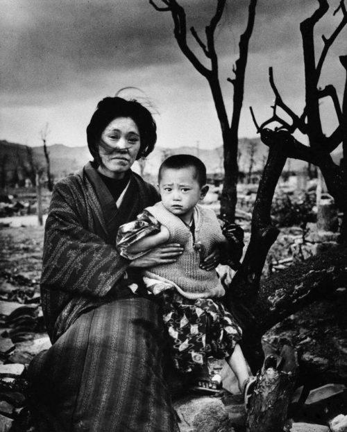 Семья в Хиросиме. Август 1945 г.