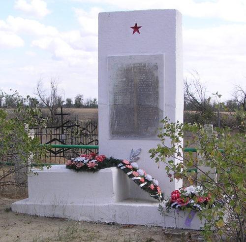 п. Новоалексеевка Городищенского р-на. Братская могила советских воинов, погибших в годы войны.