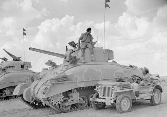 Британская 2-й бронетанковая бригада. 1942 г.