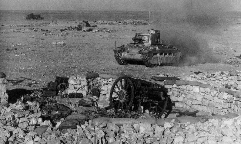 Поле боя в Египте. 1942 г.