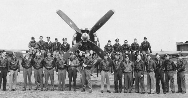 Летчики 82-й истребительной эскадрильи, 78-й истребительной группы. 1940 г.