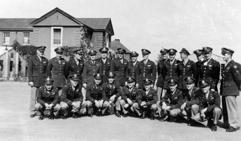 Авиаторы 84-й истребительной эскадрильи, 78-й истребительной группы в Даксфорде. 1940 г.
