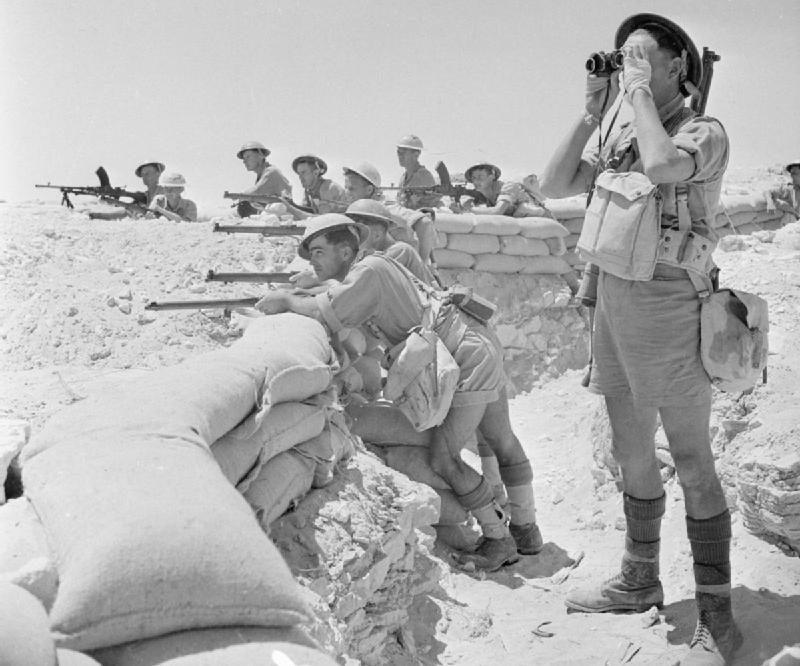 Британский взвод в обороне. 1942 г.