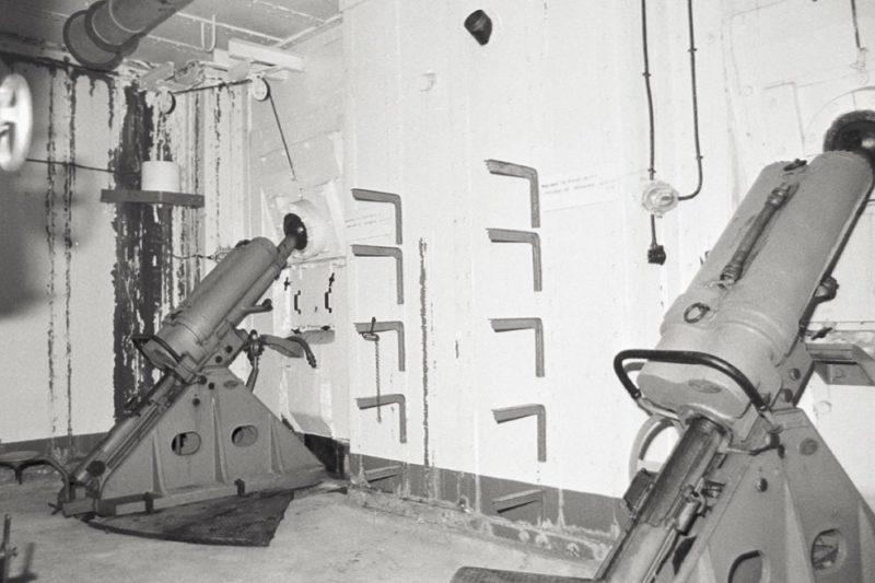 Позиции 81-мм казематных минометов в годы войны.