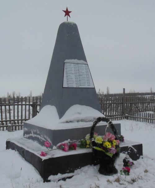 с. Терновка Камышинского р-на. Братская могила советских воинов.