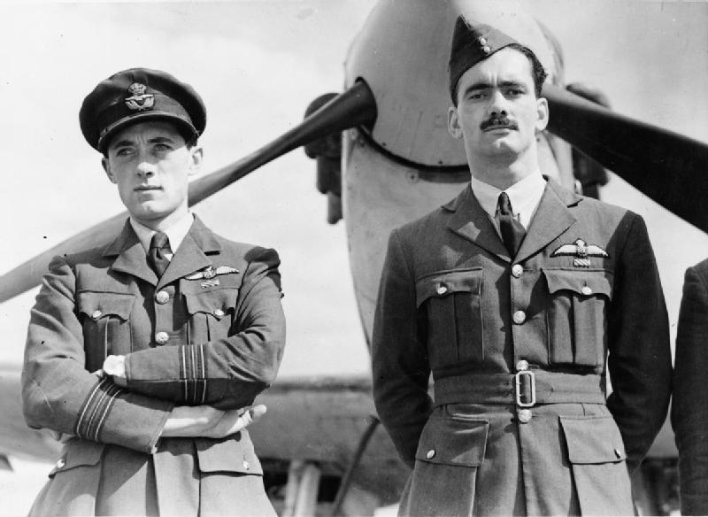 Новозеландские пилоты 19-й эскадрильи RAF. Кембридж. 1940 г.