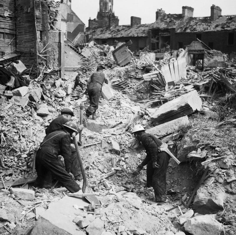 Разрушения в Белфасте. 1940 г.
