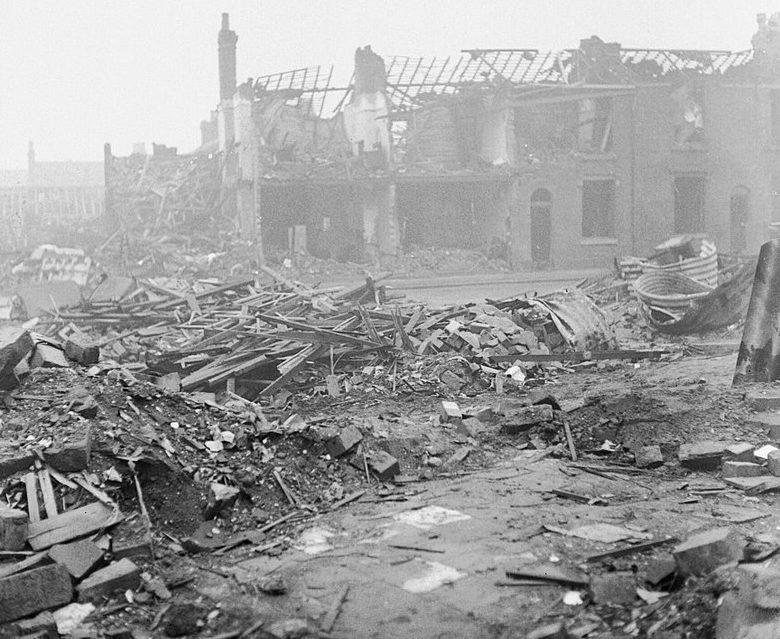 Разрушения в Бирмингеме. 1940 г.