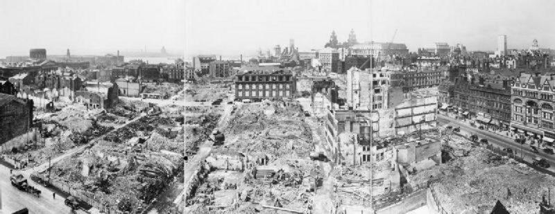 Разрушения в Ливерпуле. 1940 г.