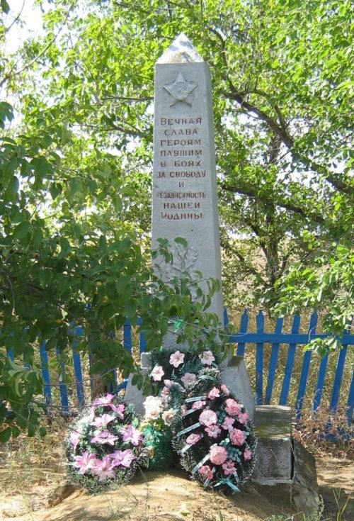 ст-ца. Распопинская Клетского р-на. Братская могила советских воинов.