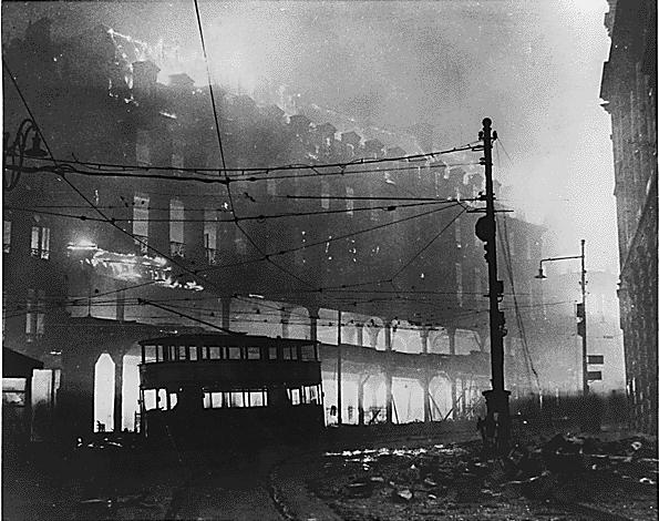 Пожар в Шеффилде. 1940 г.