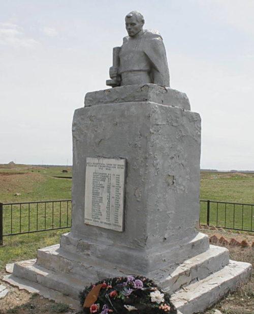 х. Дарганов Котельниковского р-на. Братская могила, в которой захоронено 150 советских воинов.