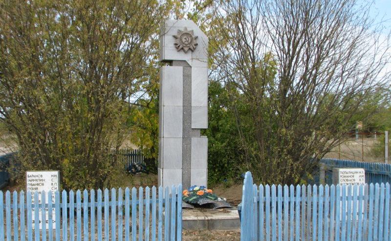 х. Дорофеевский Котельниковского р-на. Братская могила, в которой захоронено 19 советских воинов.