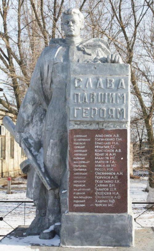 х. Захаров Котельниковского р-на. Братская могила советских воинов.