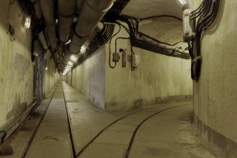 Подземная галерея форта.